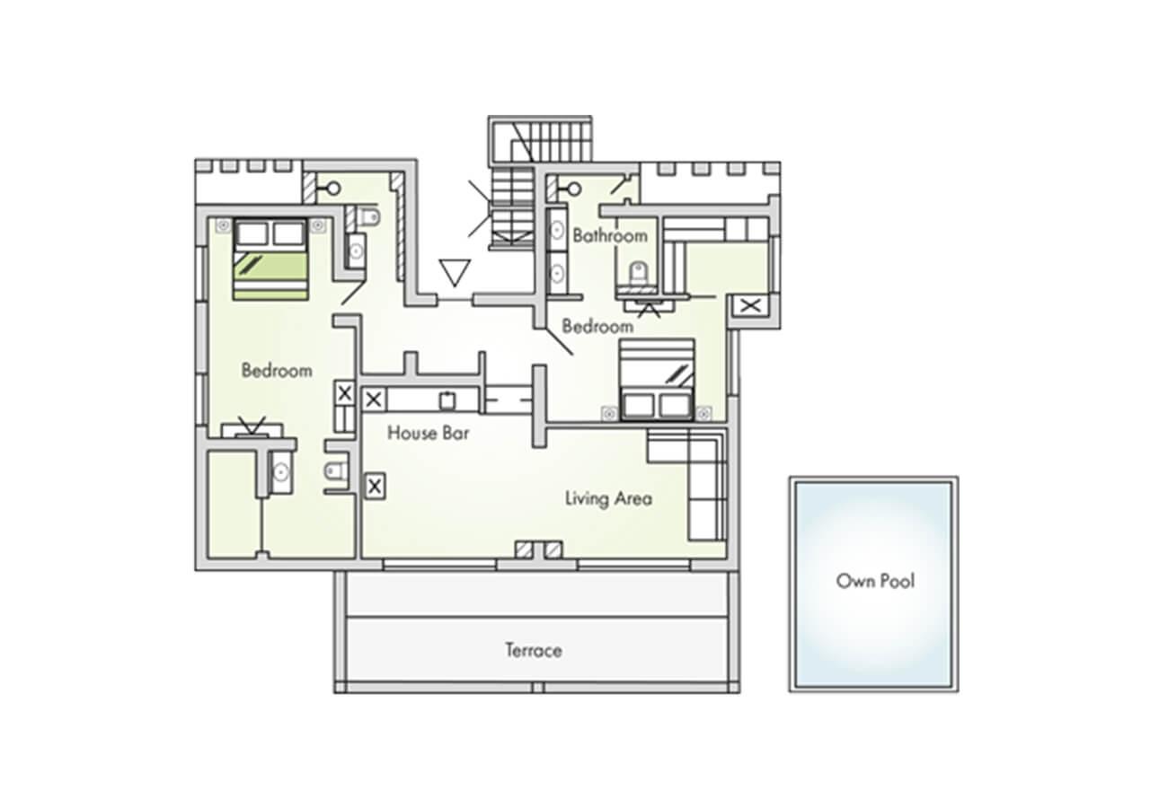 Floorplan-Garden-Pool-Suite-2-Bedrooms