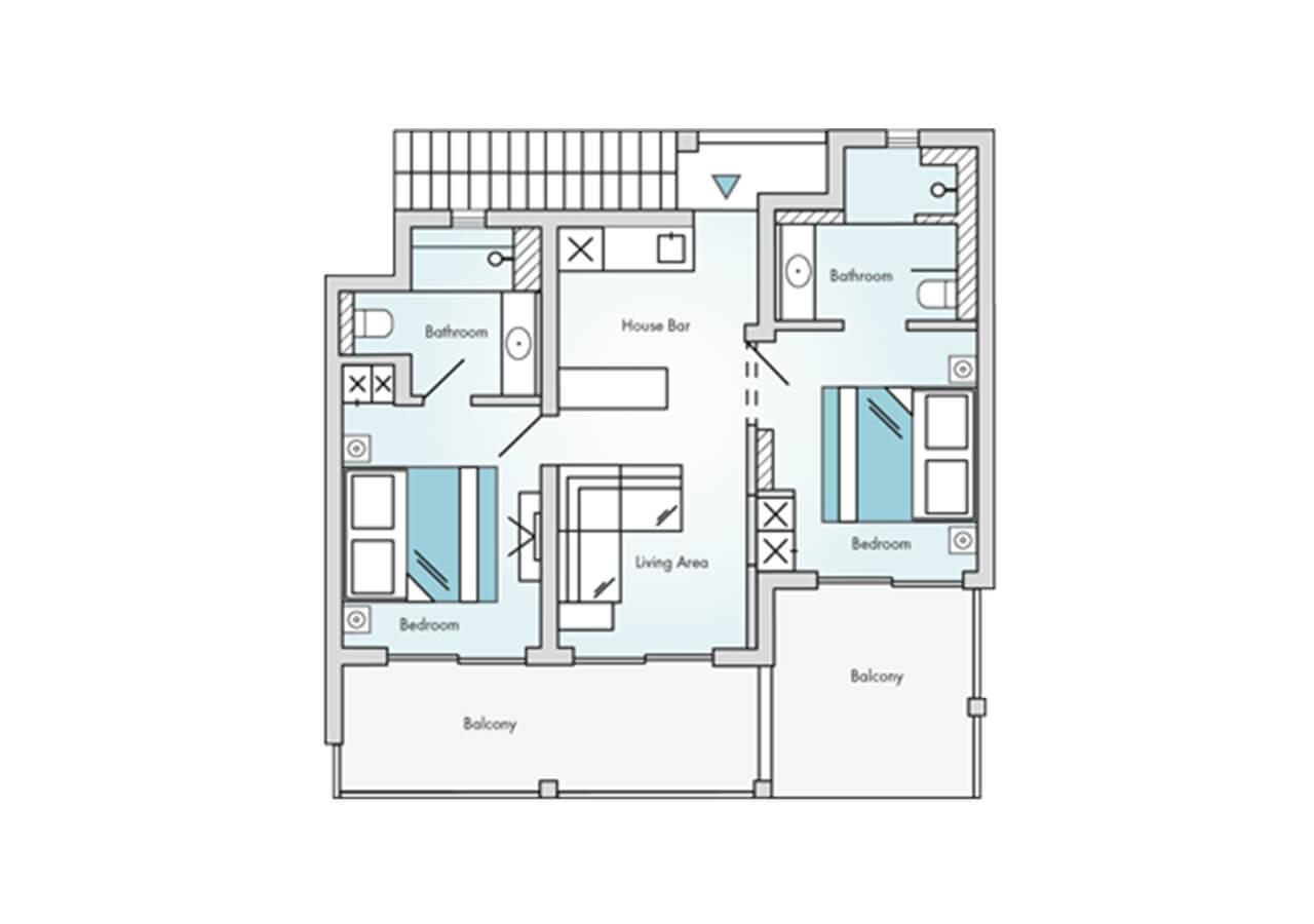 Floorplan-Laguna-Suite-Sea-View-2-Bedroom